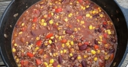 Chili con Carne aus dem Dutch Oven